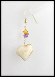 Heart Shaped River Stone Earrings