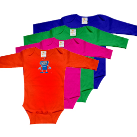 Infant Long Sleeve 1-Piece Onesie Lap Shoulder Personalizable
