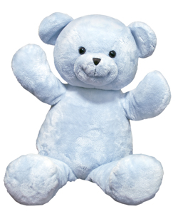 "Personalizeable Pals Plush Blue Bear 20"" PERSONALIZE ME!"
