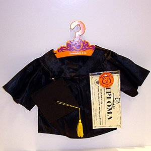 Graduation Outfit  Black Or White Plush or Doll Clothing - PERSONALIZE ME!