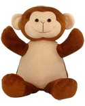 "Personalizeable Pals Plush Monkey 86901 14"" PERSONALIZE ME!"