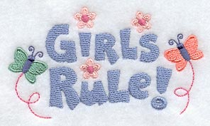 Girls Rule Flower