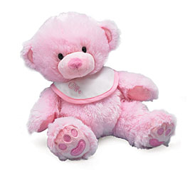 Ava the Plush Baby Pink Bear Personalize with Embroidery