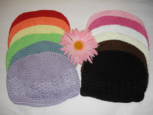 "Crochet Beanie Caps - Perfect for ""Cutie Clips"""