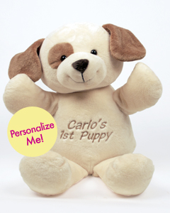 "Personalizeable Pals Plush Doggie 20"" PERSONALIZE ME!"