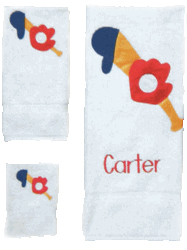 Childs 100% Super Plush Cotton Towel Set (Sports)