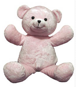 "Personalizeable Pals Plush 20"" Pink Bear PERSONALIZE ME!"