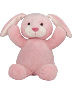 "Personalizeable Pals Plush Pink Bunny 14"" 86903 PERSONALIZE ME!"