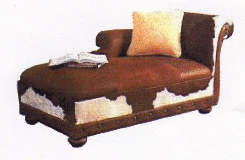 Cowhide chaise lounges hair on hide chaise we beat free for Chaise western
