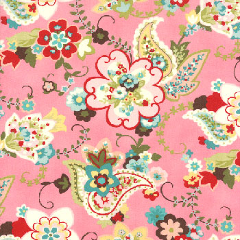 Sophie Paisley Floral Pink Sorb 32502 12  Moda
