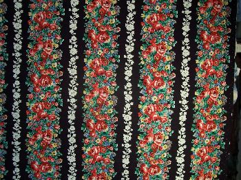 New York New York Floral Stripe Fabric