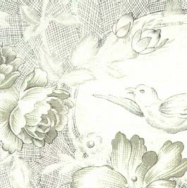 5FB 80 Light Green Bird Toile In The Beginning Fabrics