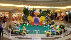 Easter display with duck chair