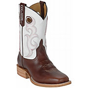 Anderson Bean ® Chocolate Horse w/ White Top Square Toe Boots