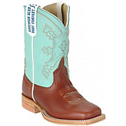 Anderson Bean® Kid's Cooper w/ Mint Tops Square Toe Boots