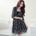 Womens Chiffon Black/White Summer Dress.