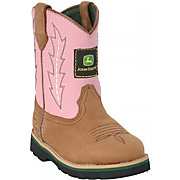 John Deere Johnny Popper Pink Infant Cowboy Boots