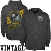 Junk Food Pittsburgh Steelers Charcoal True Vintage Distressed Overdye