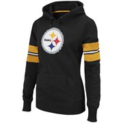 Pittsburgh Steelers Ladies Black Game Day Heroes Pullover Hoody Sweats