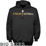 Pittsburgh Steelers Black Dual Threat Big Sizes Hoody Sweatshirt
