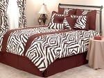 4 Piece King African Safari: Zambeze Luxury Bedding Set.