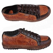 Hunter Shoes-Brown Leather Mens Sneakers.