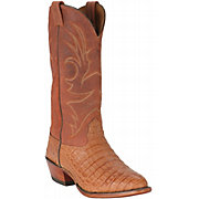 Larry Mahan Men's Peanut Brittle Genuine Caiman Belly Exotic Western