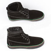 Gucci Shoes-Genuine Black Suede Leather Mens High Tops Sneakers