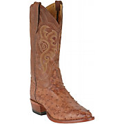 Tony Lama Men's Chocolate Full Quill Ostrich Exotic Western Boots