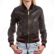 Gucci Womens Genuine Leather Jacket.