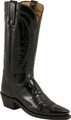 Lucchese 1883 Women's Patent Leather Black Cowgirl Boots N4614