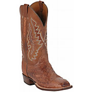 Lucchese Cowboy Collection Men's Brown Full Quill Ostrich Exotic Squ
