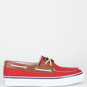 Sperry Mens Red/Tan Boat Shoes.