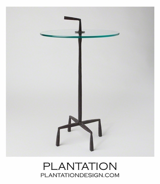Quattro Side Table | Natural Iron