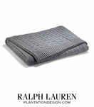 Cabled Cashmere Throw | Heather Gray