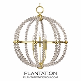 Desmond Crystal Chandelier | Antiqued Brass