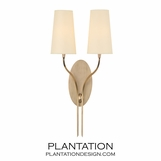 Felix Double Sconce | Antiqued Brass
