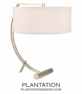 Swank Table Lamp | Polished Nickel