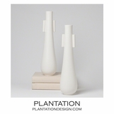 Mateo Ceramic Vases | White