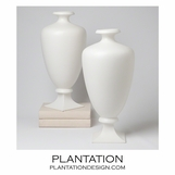 Baron Ceramic Teardrop Vase | White