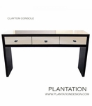 Clayton Console Table | Mirrored Drawers