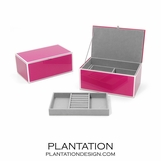 Nicole Glass Jewelry Box | Pink