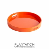 Angelique Lacquered Trays | Orange