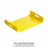 Nina Lacquered Tray | Yellow