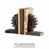 Cog & Wheel Iron Bookends