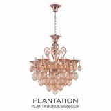 Ryan Small Chandelier | Vintage Rose