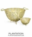 Fern Metal Bowls | 24K Gold
