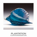 Sanibel Glass Shell | Blue Swirl