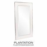 Galway Floor Mirror | White