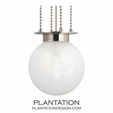 Walsh Globe Pendant | Polished Nickel